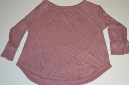 New Women's Mossimo Black Cherry Long Sleeve Top Size Small & X-Large - $5.99