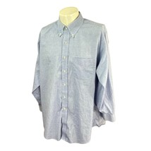 Brooks Brothers Men's Traditional Fit All Cotton Blue Dress Shirt 17-2/3 - $23.27