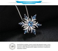 JewelryPalace Natural Blue Gemstone Topaz Solid 925 Silver Pendant Jewelry - $62.96
