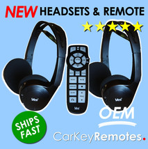 NEW! GM DVD Wireless Headset Headphones with Remote - 05064073AC - SHIPS FAST!