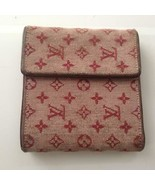 Authentic Louis Vuitton Pink Canvas Compact Bifold Wallet 5in x 4in (CA0... - $189.95