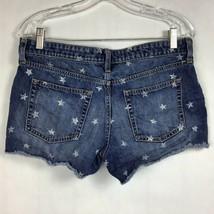 GAP Womens Sz 6/28 Sexy Boyfriend Fit Shorts Cut-Off Patriotic Stars Denim Jean image 2