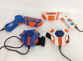 LOT (2) Jakks Pacific Spy Net Electronic Laser Tag Pistols Sensors w/ Ba... - $29.65