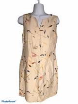Ann Taylor 100% Silk Beige & Print Classic Dress Size 8 - $16.82