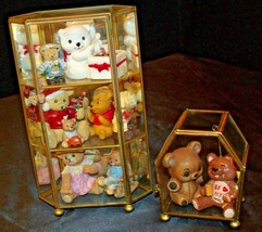Collectible Bear Figurines with Glass Cases (Group of Ten) AA20-2213 Vintage