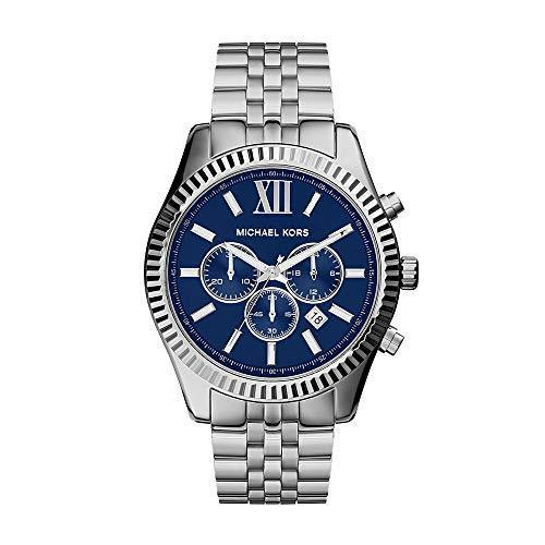 Michael Kors Men's Lexington Silver Tone Watch Mk8280 by Bonanza