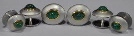 925 Sterling Silver Natural Fine Quality Emerald Gemstone Handmade Front Gold Pl image 6