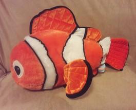 DISNEY STORE EXCLUSIVE orange white Core FINDING NEMO CLOWN FISH Large P... - $12.01