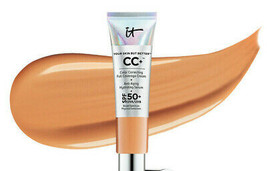 It Cosmetics Cc+ Color Correcting Full Coverage Cream Spf 50 Tan .4oz Ne W Bo X - $24.50