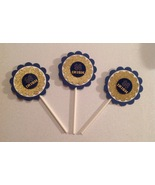 Ncaa Notre Dame Cupcake Topper Party Decoration College Birthday Handmd ... - $12.00