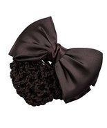 3PCS Women Hairnet Snood Net Bowtie Barrette Hair Bun Cover Hair Clip, C - $19.18