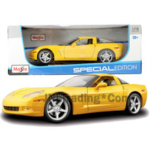 Maisto Special Edition 1:18 Die Cast Yellow  2005 CHEVROLET CORVETTE COUPE - $49.99