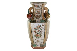 """Beautiful Chinese Imari Style Hexagonal Shaped Porcelain Vase 14.5"""" - $197.99"""