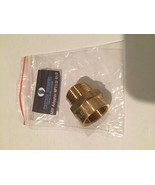 """Metric BSP G 1/2"""" Female to NPT 1/2"""" Male Pipe Fitting Brass Adapter - L... - $14.33"""
