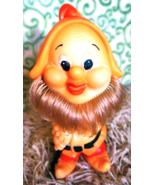 Vintage Rubber Toy Soviet USSR Gnome Dwarf Nursery Deco Collectible 1980... - $18.00