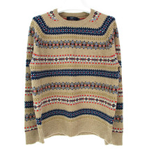 J Crew Sweater Size XL Mens 100% Lambswool Wool Fair Isle Nordic Pullove... - $108.14