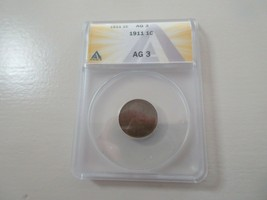 1911 Lincoln Penny , AG 3 , ANACS  - $11.88