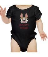 Boston Terror Terrier Baby Black Bodysuit - $13.99