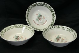 """We Can Build A Snowman Large Serving Bowls 9"""" Lot of 3 Christmas - $17.41"""