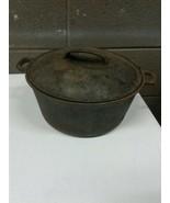 Antique Cast Iron 4.5qt Dutch Oven XX WKM #7 Unseasoned (b33) - $46.74