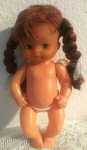 "Vintage Plastic Girl Doll 6"" red hair NUDE - $9.90"