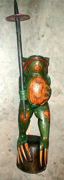 Frog Super Large Size Statue 39 inch with umbrella Hand carved in Bali image 2