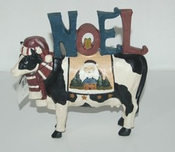 Giftcraft 689129 Cow Holding NOEL Letters Christmas Standing Decoration image 1