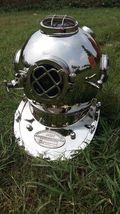 NauticalMart Chrome Finish Diving Divers Helmet Replica Gift - $299.00