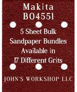 Makita BO4551 - 1/4 Sheet - 17 Grits - No-Slip - 5 Sandpaper Bulk Bundles - $7.14