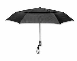 ShedRain Auto Open/Close Air Vent Compact Umbrella - Black Houndstooth image 1