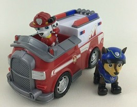 Paw Patrol Marshalls Rescue Ambulance Spin Master Emergency Vehicle Chase Figure - $18.76
