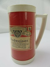 Vintage Budweiser Beer West Bend Thermo Plastic Mug Cup - $7.91