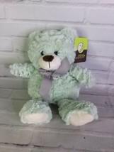 Animal Adventure Mint Green Plush Teddy Bear Stuffed Animal Toy Gray Bow 2017 - $47.51