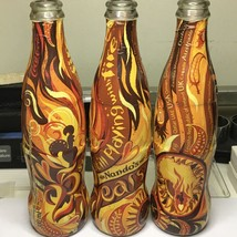 3 X Limited edition 2012 Nandos Collectible Coca Cola Bottle   Glass   Wrapper - $237.50