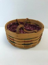 Vintage 1994 Longaberger Basket Handwoven, Fabric Insert, Used - $37.12