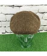 M&S Yorkshire Tweed Mens Sz M-L Hat Brown 100% Wool Classic Flat Cap - $24.74