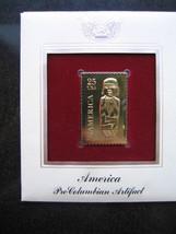 Pre Columbian Artifact 22kt Gold Stamp replica FDI FDC Golden Cover - $5.19