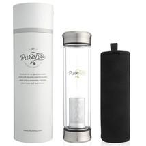 PureTea Tea Infuser Bottle w/Sleeve - Tea Infusers for Loose Tea - NEW &... - £20.20 GBP