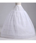 New 6 hoops 3 layers White Underskirt Petticoat One Size UK Size 4 to 18 - $33.00