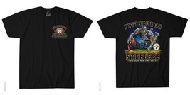 New Pittsburgh Steelers End Zone T Shirt Black Shirt Nfl - $22.99