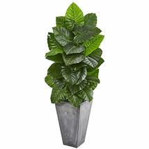 Nearly Natural 63-in. Taro Artificial Tall Cement Planter Silk Plants, G... - $219.39