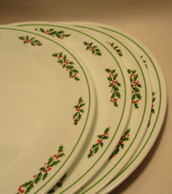 """Set of 4 Corelle Holly Days (Black Vein) Dinner Plates 10 1/4"""" in Excell... - $22.75"""