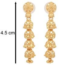 Indian Jhumka Jhumki Gold Plated Fashion Jewelry Bridal Ethnic Wedding E... - $8.71