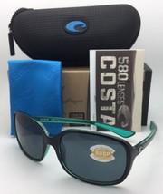 Polarized COSTA Sunglasses RIVERTON RVT 122 Black On Green Frame w/ 580P Grey