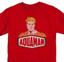 Aquaman Red T-shirt Super Friends retro superhero DC Comics graphic tee DCO625 image 1