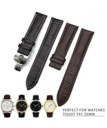 19 20 22mm Genuine Leather Watches Band Butterfly Buckle Universal Wrist... - $40.01+