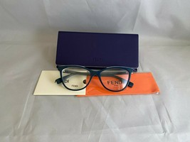 Fendi Roma Ff 0255 ZI9 Petrol Green Butterfly Rx Eyeglass Frames Brand New - $125.77