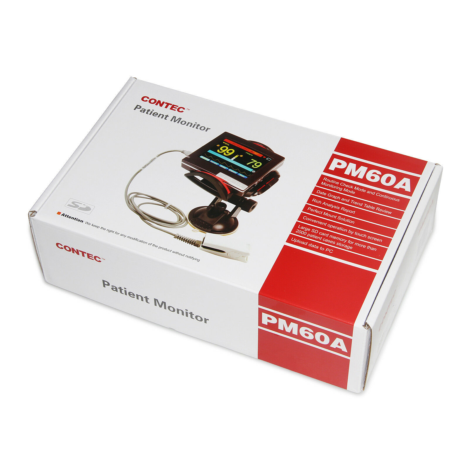 New Born Touch ICU Patient Monitor Infant SPO2 Pulse Oximeter+Software+SD Card