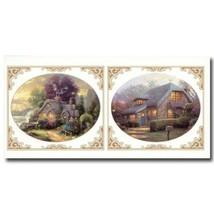 Cobblestone Cottages Large Instant Stencils by Thomas Kinkade - $7.09