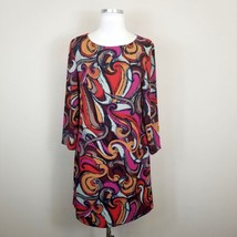 Maeve Anthropologie Flavia Swirl Shift Dress Small S Womens Long Sleeve - $24.99